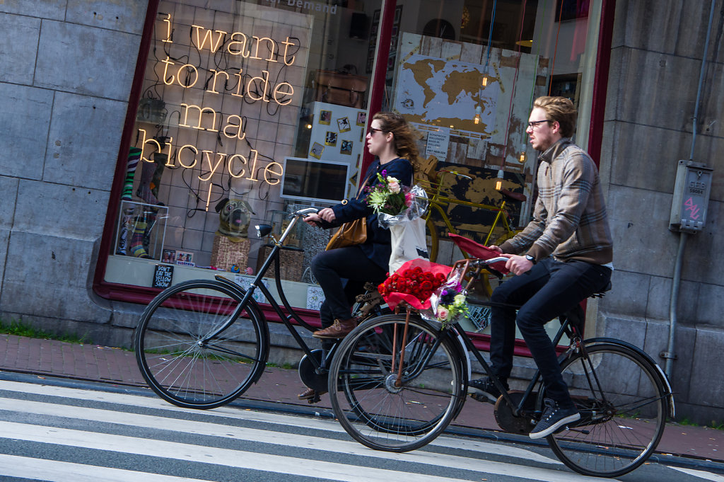 Bike riders, Amsterdam