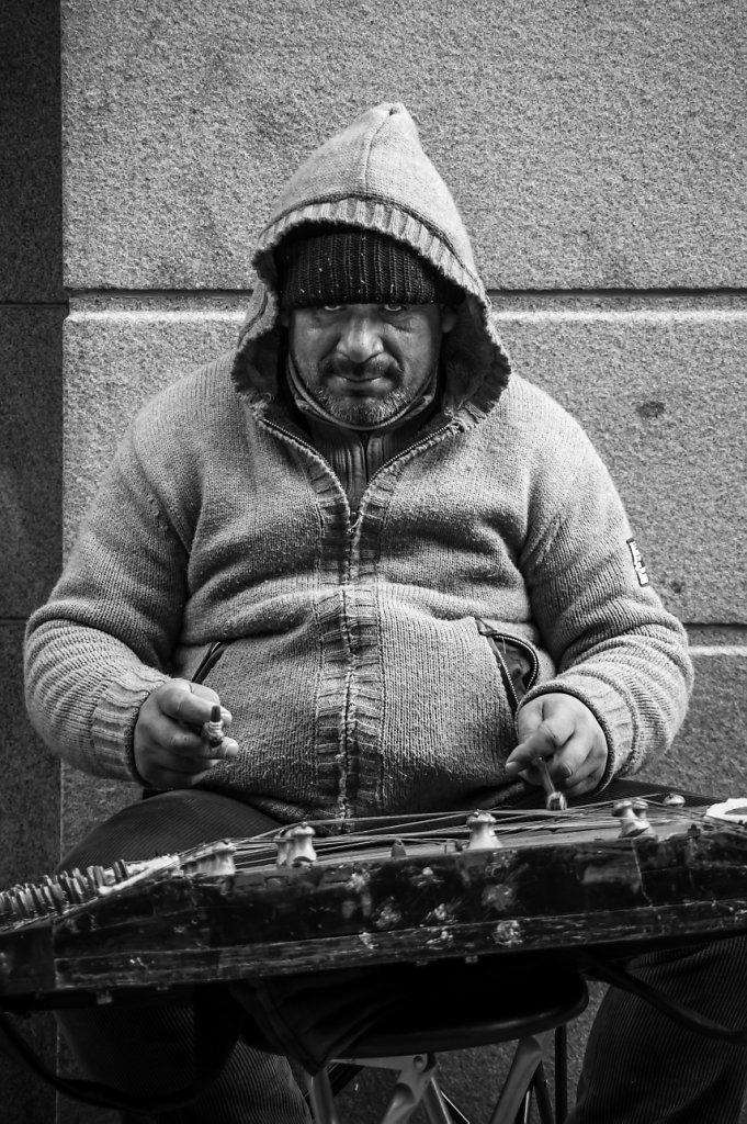 Street musician at Drottninggatan, Stockholm