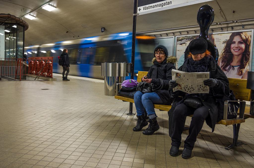 Underground station Odenplan, Stockholm