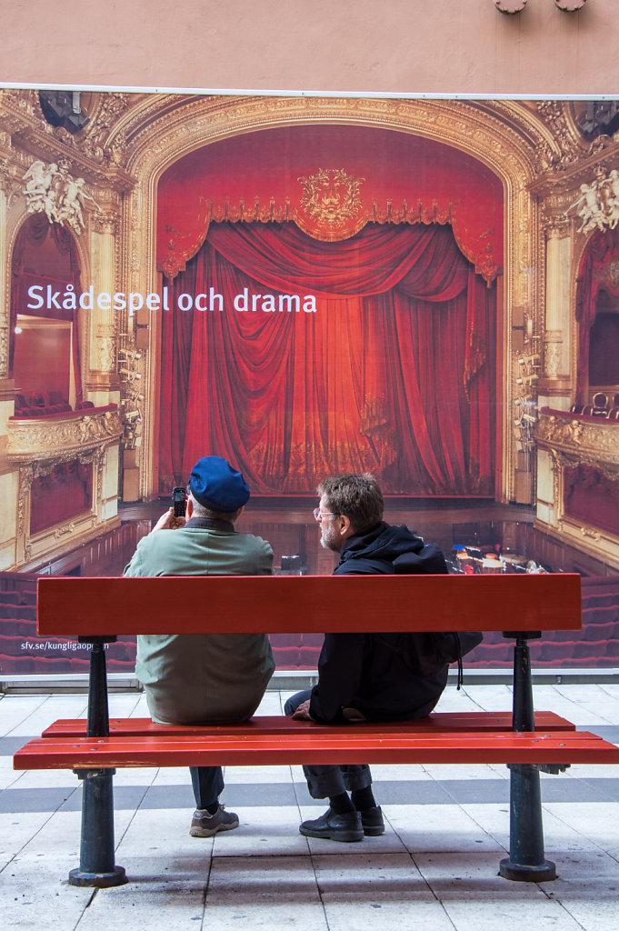 Drama at Drottninggatan, Stockholm
