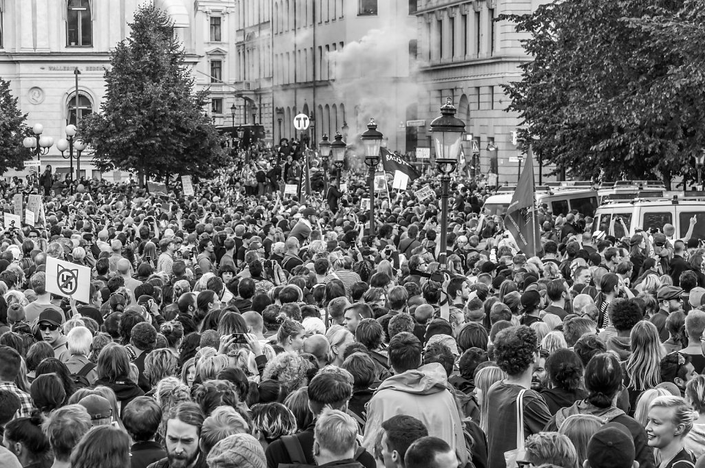Demonstrations Kungsträdgården August 30, 2014
