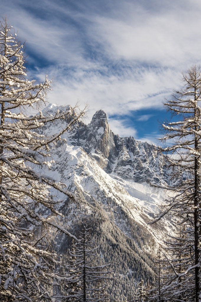Les Drus seen from Flégère