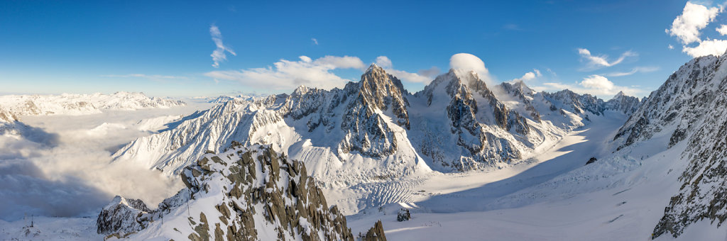 Panorama from top of Grands Montets