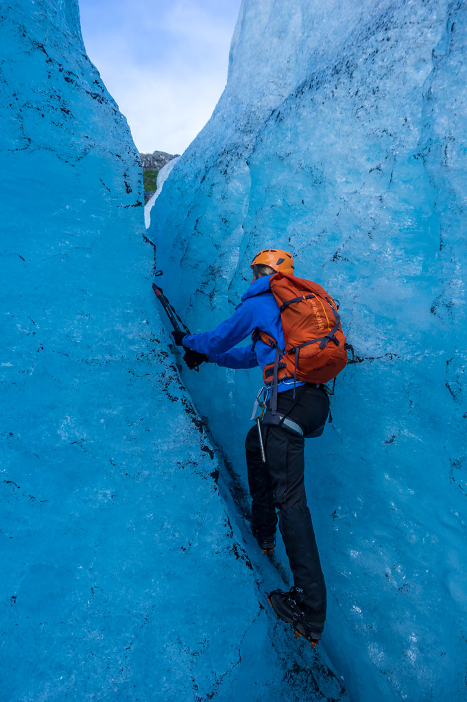 The ice axe is really useful