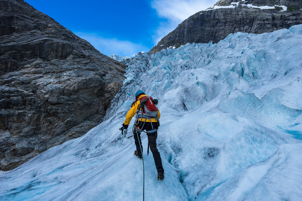 and Catrin takes us up high on the glacier